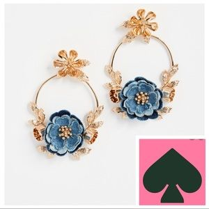 🆕Kate ♠️ Spade Flower Child Door Knocker Earrings